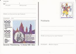 GERMANY CLOWN Pic POSTAL STATIONERY CARD , PHILATELY ANNIV Cover, Stamps Clowns - Carnival