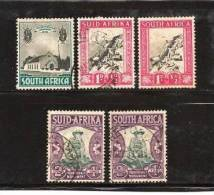 """SOUTH AFRICA """"UNION"""" 1933 Used Single Stamp(s) Voortrekker Memorial Nrs. 51-54 (5 Values Only) - South Africa (...-1961)"""