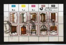 SOUTH AFRICA 1992 CTO Block 845-854 Cape Furniture #5377 - South Africa (1961-...)