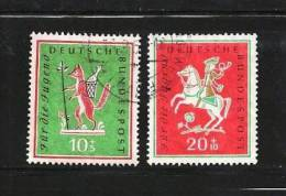 GERMANY 1958  Cancelled Stamp(s) Youth Songs, 286-287 - [7] Federal Republic