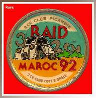 SUPER PIN´S CITROËN : 2CV RAID MAROC 92, Club  2CV PICARDIE - Citroën