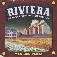 ARGENTINA MAR DEL PLATA RIVIERA HOTEL VINTAGE LUGGAGE LABEL - Hotel Labels