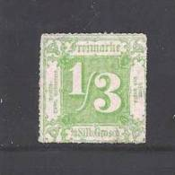 GERMANY -THURN &TAXIS 1862 Unused  (no Glue) Stamp 1/3 Silbergroschen Green Nr. 27 - Thurn And Taxis