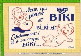 BUVARD : Jean Qui Pleure Et BIKI  BI KI Rit  Bebe Signé JL Pesch - Bambini