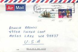 1994 Airmail Letter  To USA  Sports Series: 75c Netball; AAT 30c SS Pram - Australian Antarctic Territory (AAT)