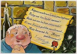 "JB069 000.0006 - Caveau ""CRU MORGON"" - Humour - La Prière Des Bons Vivants - Non écrite - Scan Recto-verso - Villie Morgon"
