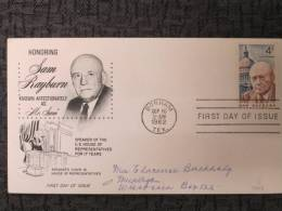 USA FDC SAM RAYBURN 1962 - First Day Covers (FDCs)