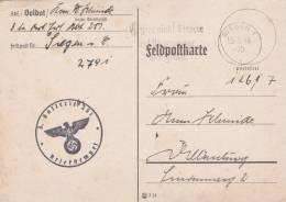 Feldpost WW2: Leichte Artillerie Ersatz Abteilung 251 In Siegen Dtd Siegen 1 13.9.1940 - Plain Postcard (B337) - Alemania