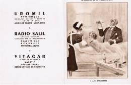 LA MEDECINE EN XII CONSULTATIONS LA DOUILLETTE DESSIN A. GUILLAUME LABORATOIRES UROMIL RUE DROUOT PARIS - Advertising