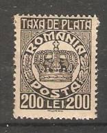 Romania 1946  (**)  MNH - Port Dû (Taxe)