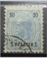Österr,Levante.1Pa Auf 10Kr. Used Gefasertes Papier(P-75-6 - Österreich