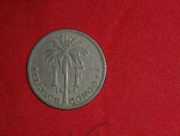 "1 Francs ""Albert Koning"" / (Congo Belge) De 1925 TTB.+(Monnaie Plus Belle Que Photo) - Congo (Belgian) & Ruanda-Urundi"