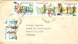 4 Timbres Philatelic Week 1969 Sur Lettre Vers La Belgique - Philippines
