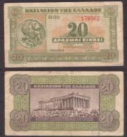 Griechenland , 20 Drachmai , 1939 , VF - Greece