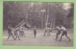 CHAMARANDE : Jeu De Corde. 2 Scans. Scouts De France. CARTE PHOTO - Scoutisme