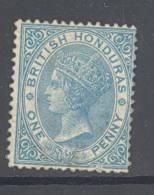 BRITISH HONDURAS, 1865 1d Blue (no Wmk, SG 1)unused NO GUM, Cat £65 - Guyane Britannique (...-1966)