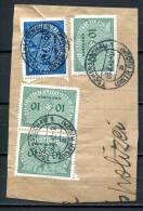 """German Empires Generalgouvernement 1942 Mit  Mi.D 3+10 """" Briefstück Mit Tstp.Tschenszuchau 1 """" 1 Briefstück - 1939-44: World War Two"""