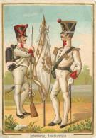 Chromos Réf. B495. Fabrique De Galoches Et Chaussures - Laporte-Lepeintre - Mans - Infanterie, Restauration, Soldats - Chromos