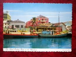 Nassau In The Bahamas - Out Island Trading Boats On The Waterfront -boat - 1964 - Bahamas - Unused - Bahamas