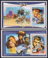 MADAGASCAR  CINEMA  JOHN WAYNE+JOHN WAYNE   YVERT N°1046/7   SUR 2 BF ** MNH - Cinema