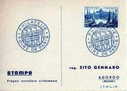 175 FRANCIA - CARTONCINO FDC - 13-05-1956 - PARIS - FOIRE DE PARIS - 1950-1959