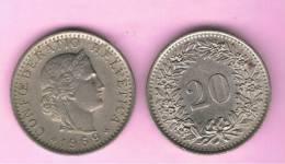 SUIZA - SWITZERLAND - SUISSE -  20 Rappen 1969  KM29 - Suiza