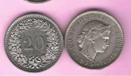 SUIZA - SWITZERLAND - SUISSE -  20 Rappen 1975  KM29 - Suiza