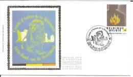 België    FDC   Zijde   2444     De Weerstand     Bruxelles - Brussel - 1991-00