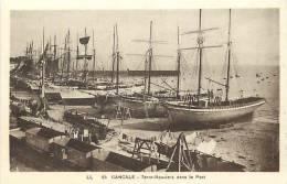 Depts Divers - Ille Et Vilaine -ref G368 -cancale - Peche -voiliers -terre Neuviers - Terre Neuve  - Carte Bon Etat  - - Fishing Boats