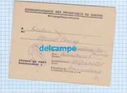 - Dépot De Brienne Le Chateau - Courrier D´un  Prisonnier De Guerre Allemand à Sa Femme - 1947 - Voir Cachet De Camp - Postmark Collection (Covers)