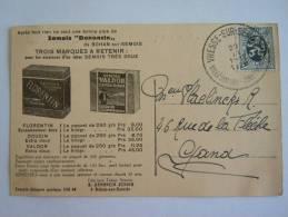 """Bohan Sur Semois Pub Fabrique Tabac Denoncin Vue Sur Le Village Prise De """"la Croix"""" Circulée 1928 - Belgique"""