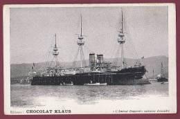 BATEAU GUERRE - 240413 - CHOCOLAT KLAUS  - Amiral DUPERRE Cuirassé D'escadre - Guerra