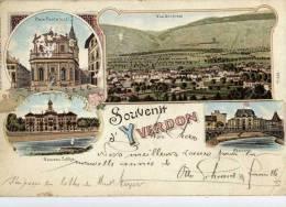 SUISSE-YVERDON- Souvenir-(Style Gruss Aus-Edit. Guggenheim) 1898 - Switzerland