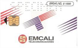 TARJETA DE COLOMBIA DE PRONTEL $1000 EMCALI TELECOMUNICACIONES -SPECIMEN (MUY RARA) - Colombia