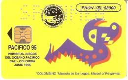 TARJETA DE COLOMBIA DE PRONTEL $3000 EMCALI PACIFICO 95 -SPECIMEN (MUY RARA) - Colombia