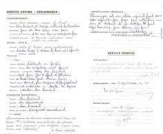 2 Bulletins Trimestriels 1963 1964 NOTRE DAME DE GUINDALOS JURANCON  4 Pages - Diploma's En Schoolrapporten