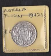 Australia Florin 1942 - Silver (.925) - Monnaie Pré-décimale (1910-1965)