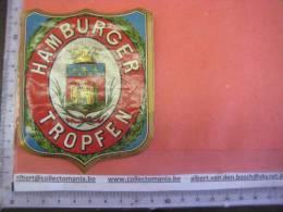 1 étiquette  XIX Ième   - HAMBURGER TROPFEN -  Impr. ROMAIN & Palyart & Fils  - DR.AUGUST KOENIGS Label Drops - Etiquettes