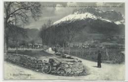 SAINT PIERRE D´ALBIGNY (SAVOIE - 73) - CPA - VELO - FACTEUR - AVENUE DE LA GARE ET L´ARCLUSAZ - Saint Pierre D'Albigny
