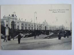 Brussel Exposition De Bruxelles 1910 Façade Principale Pub Chocolat Hardy - Universal Exhibitions