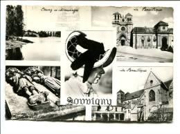 CP- SOUVIGNY (03) Basilique Et étang