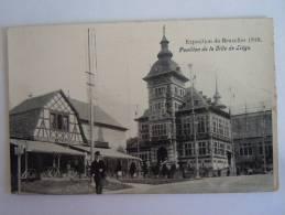 Brussel Exposition De Bruxelles 1910 Le Pavillon De La Ville De Liège Pub Chocolat Hardy - Universal Exhibitions