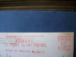 Cachet Mont Saint Michel 1957 - Marcophilie (Lettres)