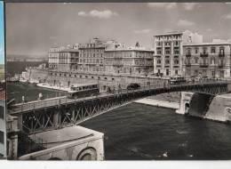 1952 TARANTO PONTE GIREVOLE FG V SEE 2 SCANS ANIMATA AUTOBUS CARROZZE CAVALLI - Taranto