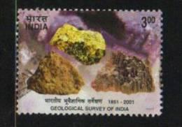 India 2001  GEOLOGICAL SURVEY Gemology Raw Gem Stones Mining Used # 47013 S Indien Inde - India