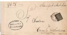 1895 LETTERA CON ANNULLO LEGNAGO   VERONA - 1878-00 Umberto I
