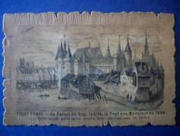 PARIS - Le Pont Aux Meuniers (carte épaisse) Scan - Ponts