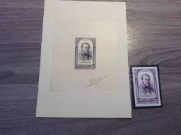 France 1948 Yv 799 épreuve D´ Artiste Revolution De 1848, P.J.Proudhon (Anarchiste)+ Essai De Couleur. TB - Epreuves D'artistes
