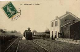 77- ARBONNE- La Gare-Train,Tramway à Vapeur,Ligne Secondaire Disparue,Melun à Milly - Frankrijk
