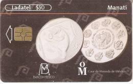 TARJETA DE MEXICO CON UNA MONEDA DE UN MANATI  (6-10)   (MONEDA-COIN) - Sellos & Monedas
